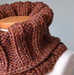 Chunky knitted cowl brown | Berniolie - Accessories on ArtFire