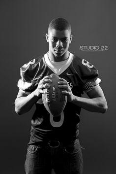Senior session | Male senior photos | Football | High School | Quarterback | Vandalia Butler High School