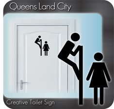 Bathroom Signs For Business toilet symbol door sign restroom unisex bathroom funny business
