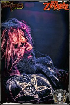 "Rob Zombie ""Blood on her skin. Dripping with sin.  Do it again. Living dead girl""."