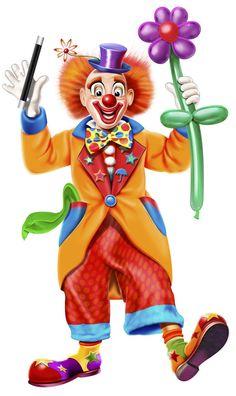 Happy Clown Clip Art Illustration Of A Digitally