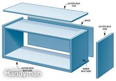 Custom-size and finish these super-simple box shelves for any room in the house