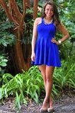 Royal And Ready Dress: Royal Blue