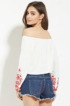 Embroidery Off-the-Shoulder Top | Forever 21 - 2000167714