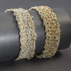 Braided and knitted bracelets by LissaBjewelled