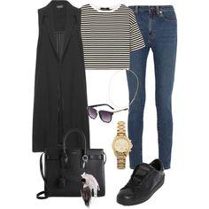 Outfit #438 by valeriatrav on Polyvore featuring polyvore moda style TIBI Topshop Yves Saint Laurent Valentino Michael Kors Phyllis + Rosie Fendi