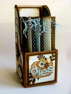 Decorative magazine racks.