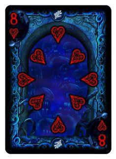Bicycle R'lyeh Rising playing cards. Pip card.
