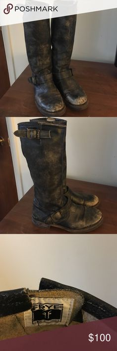 FRYE VERONICA SLOUCH BOOT FRYE Veronica slouch boots. Perfectly distressed and nicely broken in. No blisters! Size 7. Frye Shoes Combat & Moto Boots