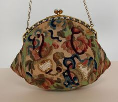 1920s jewel frame 18th C fabric evening bag at 1stdibs