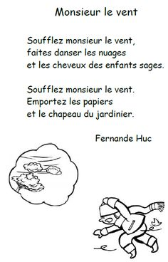 French Teaching Resources, Teaching French, La Promenade De Flaubert, French Poems, 4 Element, Reading Comprehension Worksheets, Preschool Activities, Songs, Chant