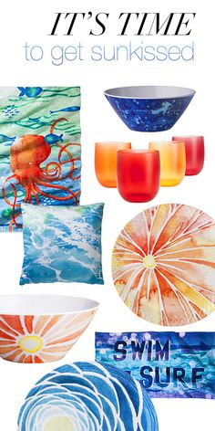 Get outside and soak up the sun in gorgeous watercolors + sunwashed prints with our latest outdoor décor collection