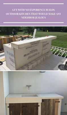 What This Guy With No Experience Built On His Patio Made Me So Jealous Cuisine Extérieure Guy With No Experience Builds Outdoor Kitchen That Would Make Any Neighbor Jealous