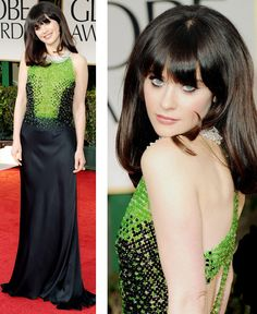 Zooey at the Golden Globes - LOVE!