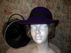 Vintage 80s Womens Hat in Bight Bold Purple Wool by vintagefinds61, $12.00