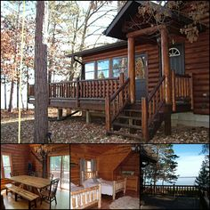 Arbor Shores is a luxury log cabin rental available year-round on the scenic western shore of Petenwell Lake in central WI. This property is stunning in the fall and winter! #bookdirect with local property manager The Cottage Keeper: