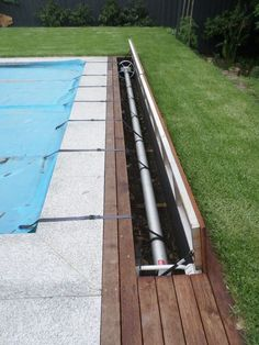 Discover the revolutionary Aussie UnderCover underground hidden pool cover system. We have 4 kit styles with automatic, solar or manual models. Swimming Pool Landscaping, Small Backyard Pools, Backyard Pool Designs, Swimming Pool Designs, Backyard Landscaping, Landscaping Ideas, Landscaping Around Pool, Above Ground Pool Decks, In Ground Pools