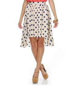 dotted high-low skirt