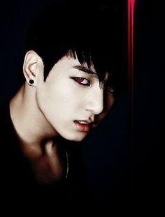 jungkook like a vampire