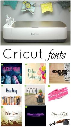 Cricut Maker Printables and Free Fonts - there are so many too choose from.