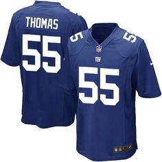 Nike Game J.T. Thomas Royal Blue Youth Jersey - New York Giants #55 NFL Home