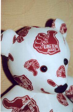 Gig Em Aggies Teddy Bear by DoOver  Texas Football by DoOver, $35.00