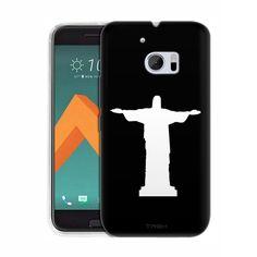 HTC 10 Silhouette Christ the Redeemer Brazil on Black Slim Case