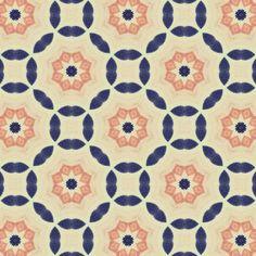 navy and salmon print Motifs Textiles, Textile Prints, Textile Patterns, Textile Design, Surface Design, Surface Pattern, Pretty Patterns, Color Patterns, Motif Oriental