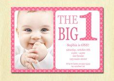 First Birthday Baby Girl Invitation
