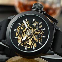 Mens Luxury Hollow Skeleton Watch (3 colors)