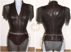 Lagertha Vikings inspired Armor by TheLeatherMaiden on Etsy