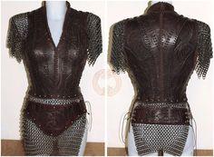 Lagertha vikingos inspirado armadura por TheLeatherMaiden en Etsy