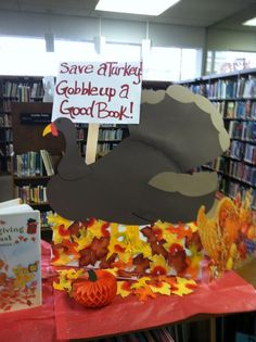 "What a cool ""Save a Turkey"" display the kids will enjoy!"