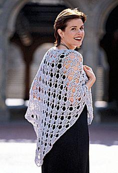 Silver Shawl free crochet pattern