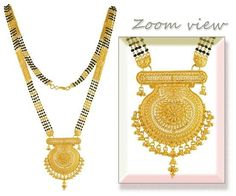 necklace online for cyber monday Real Gold Jewelry, Golden Jewelry, Gold Jewellery Design, Indian Wedding Jewelry, Bridal Jewelry, Gold Mangalsutra Designs, Pendant Jewelry, Beaded Jewelry, Gold Pendant