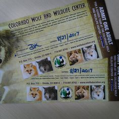 The Colorado Wolf and Wildlife Center has donated two passes to a feeding tour to the #bbb16 silent auction! What a perfect package for any wildlife lover!