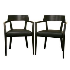 Baxton Studio Laine Wenge Wood and Faux Leather Modern Dining Chair - Set of 2