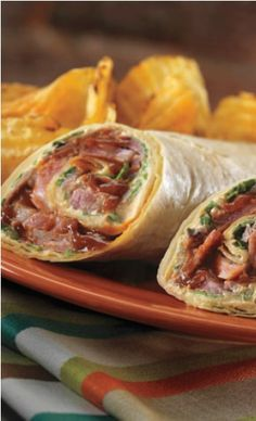 A slightly different take on Corned Beef, served in a wrap and sweetened with a touch of BBQ sauce! A great new way to celebrate St. Patrick's day.