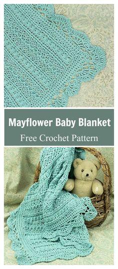 Mayflower Baby Blanket Free Crochet Pattern #freecrochetpatterns #blanket