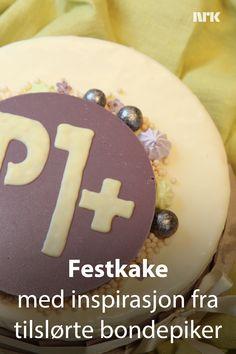 Tilslørte bondepiker som bursdagskake. Tonje Holtungen laget denne kaken til radiokanalen NRK P1+ sin femårsdag i oktober 2018. Birthday Cake, Pudding, Desserts, Recipes, Food, Tailgate Desserts, Deserts, Birthday Cakes, Custard Pudding