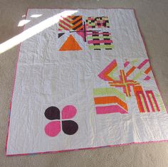 Modern Block of the Month Quilt, via Flickr.