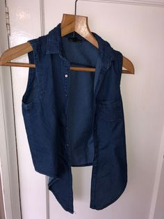 --> Discover Shpock for more cool denim bargains in your area Vest, Denim, Awesome, Jackets, Stuff To Buy, Tops, Fashion, Down Jackets, Moda