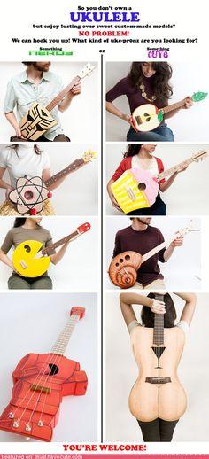 I just might pick up playing the ukulele now :)