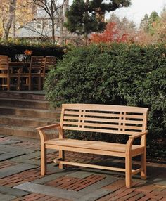 Mandalay Teak Bench | #outdoorbenches #outdoorbench #benches | by http://www.frontera.com/