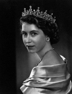A young Queen Elizabeth II.