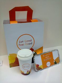 Orange is a fantastic colour to chose as it makes people wanting to eat. The packaging is not over-decorated; it has enough white space to make it look sophisticated.