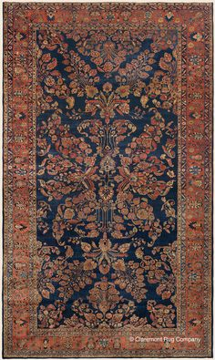 "MANCHESTER KASHAN, 10' 10"" x 18' 8"" — Circa 1900, West Central Persian Antique Rug - Claremont Rug Company  Click to learn more about this rug."