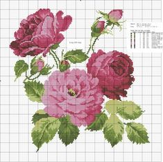 This Pin was discovered by Zeh Cross Stitch Rose, Cross Stitch Samplers, Cross Stitch Flowers, Cross Stitching, Border Embroidery, Cross Stitch Embroidery, Embroidery Patterns, Hand Embroidery, Cross Stitch Designs