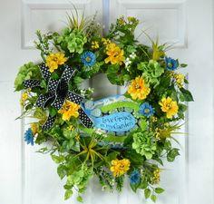 Summer Door Wreaths  Summer Garden Door by GaslightFloralDesign