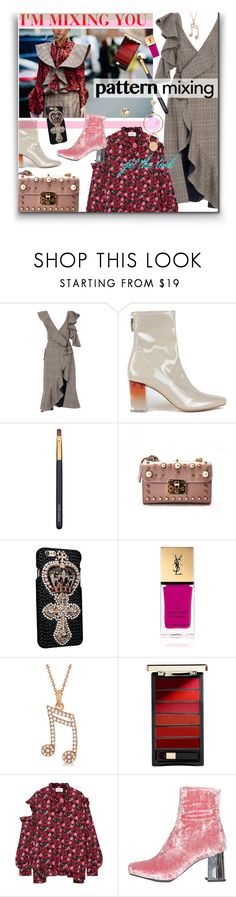"""""""I'm Mixing You : Pattern Mixing"""" by watereverysunday ❤ liked on Polyvore featuring self-portrait, Estée Lauder, Yves Saint Laurent, Allurez, L'Oréal Paris and Magda Butrym"""